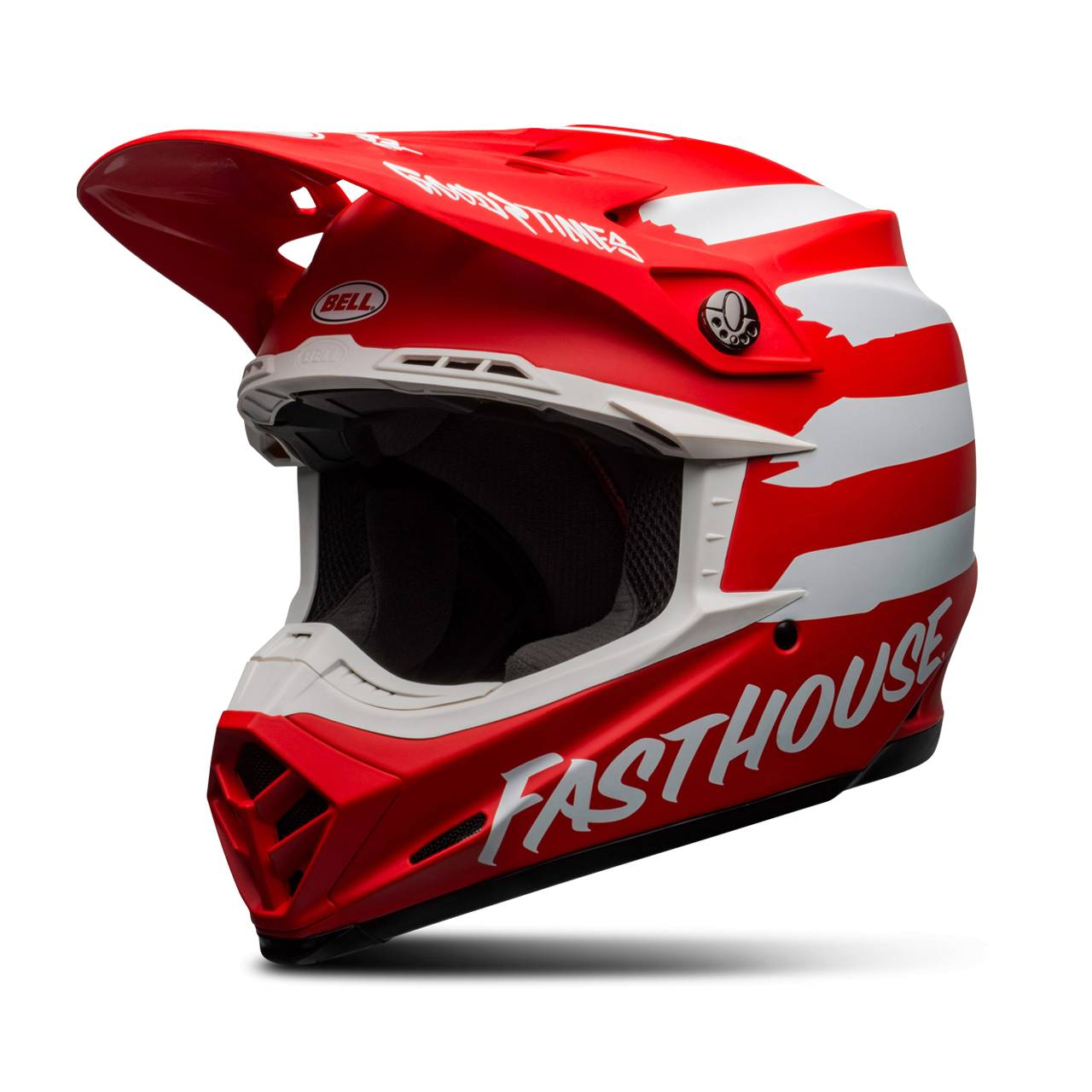 bell casco cross  moto-9 mips fasthouse signia rosso-bianco