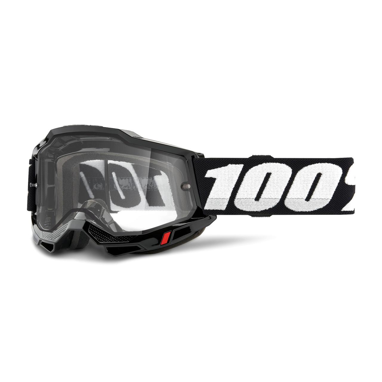 100% Maschera Cross  Accuri 2 Enduro Moto Nera
