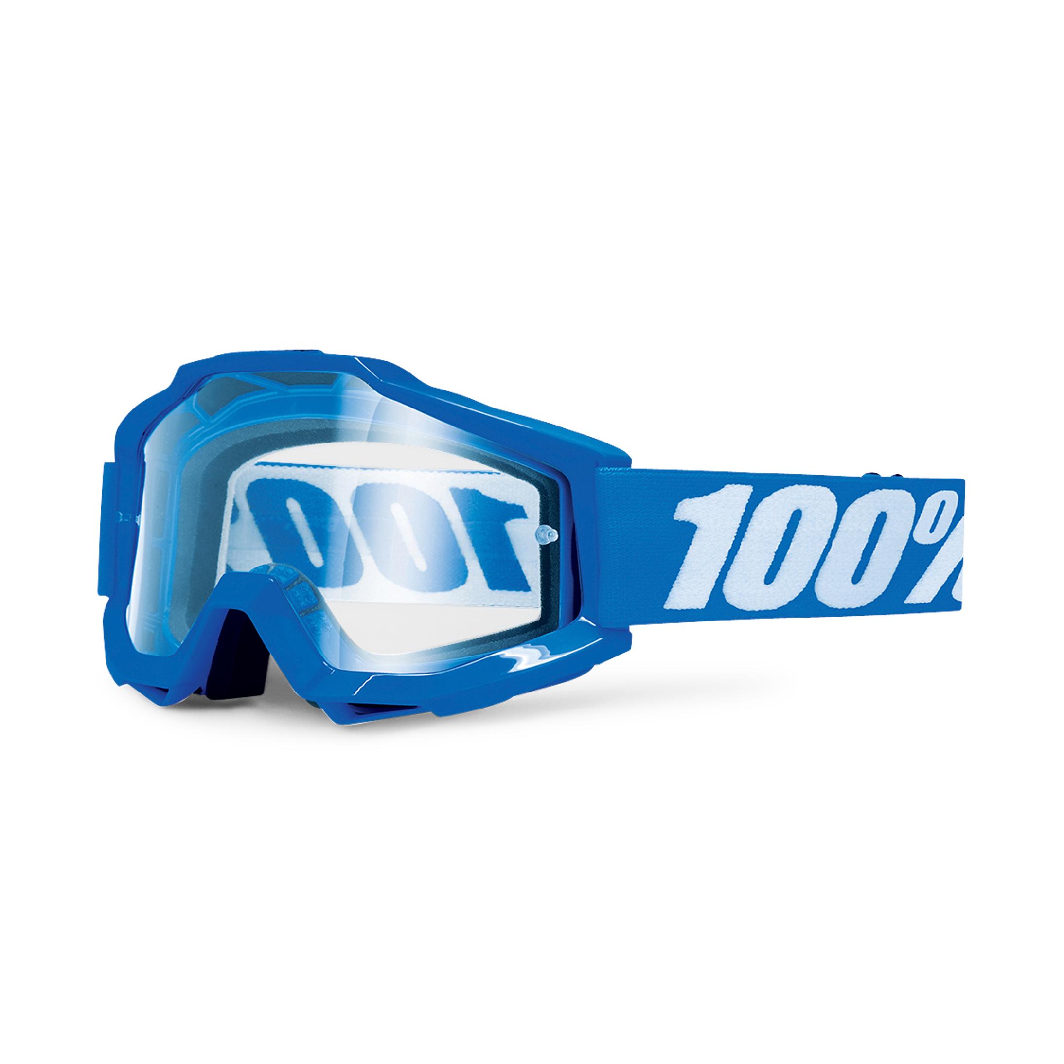 100% Maschera cross  Accuri OTG Blu