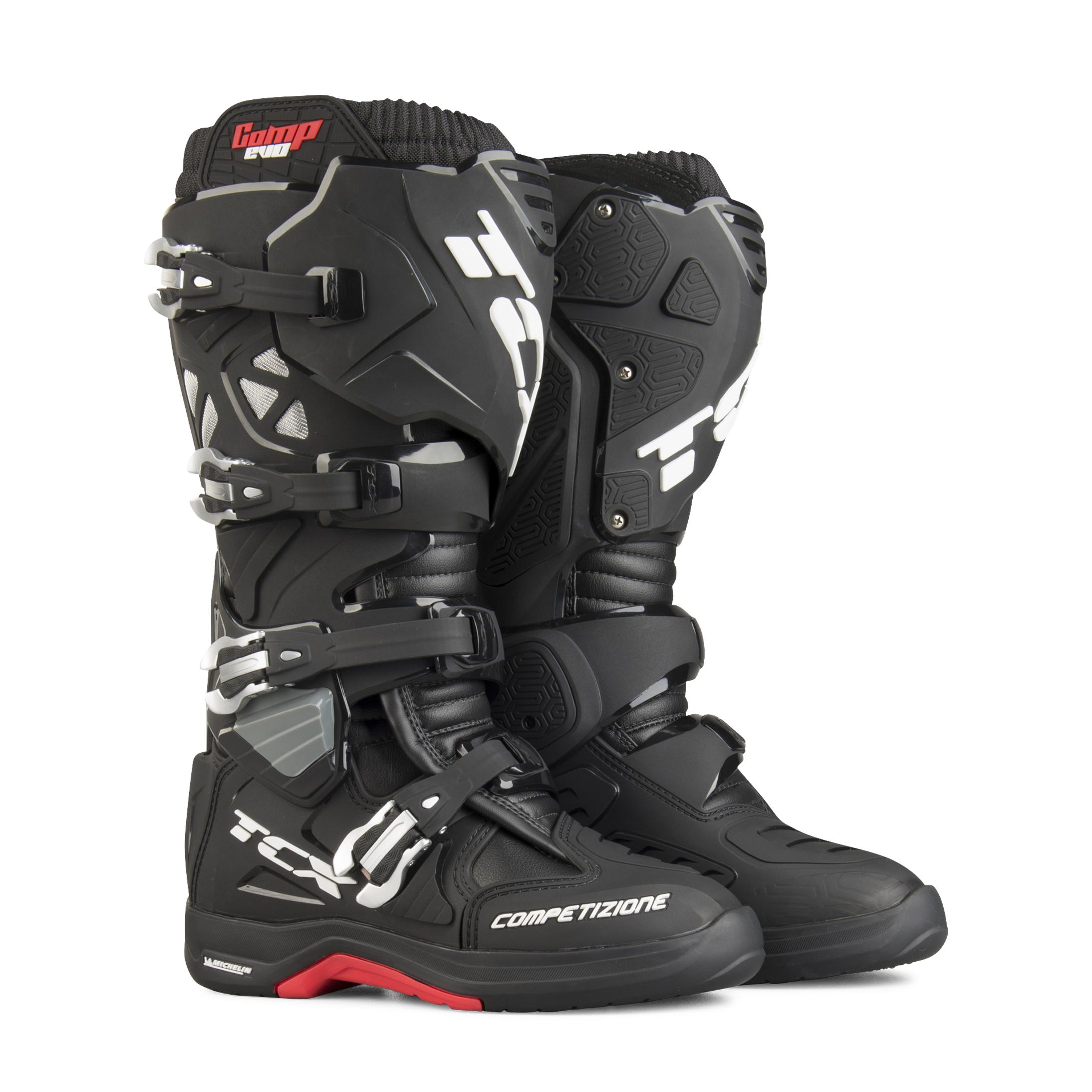 TCX Stivali Moto  Comp Evo 2 Michelin Nero