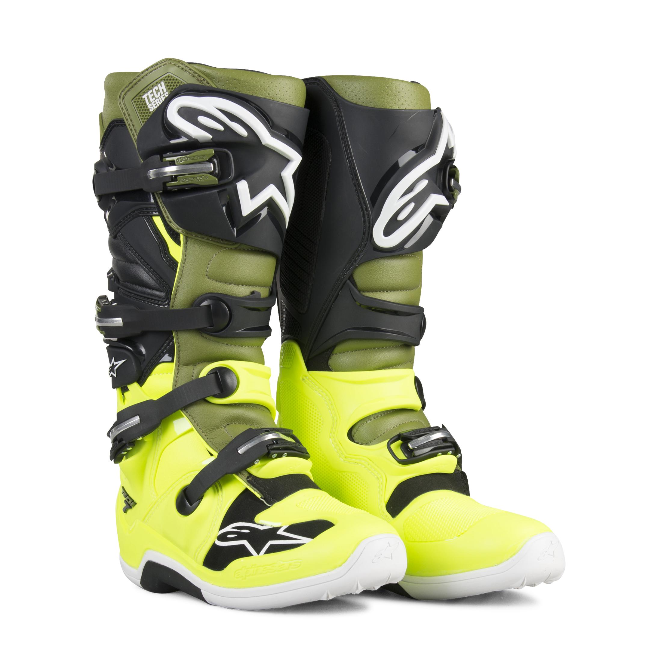 Alpinestars Stivali Cross  Tech 7 Giallo Fluo-Verde-Nero