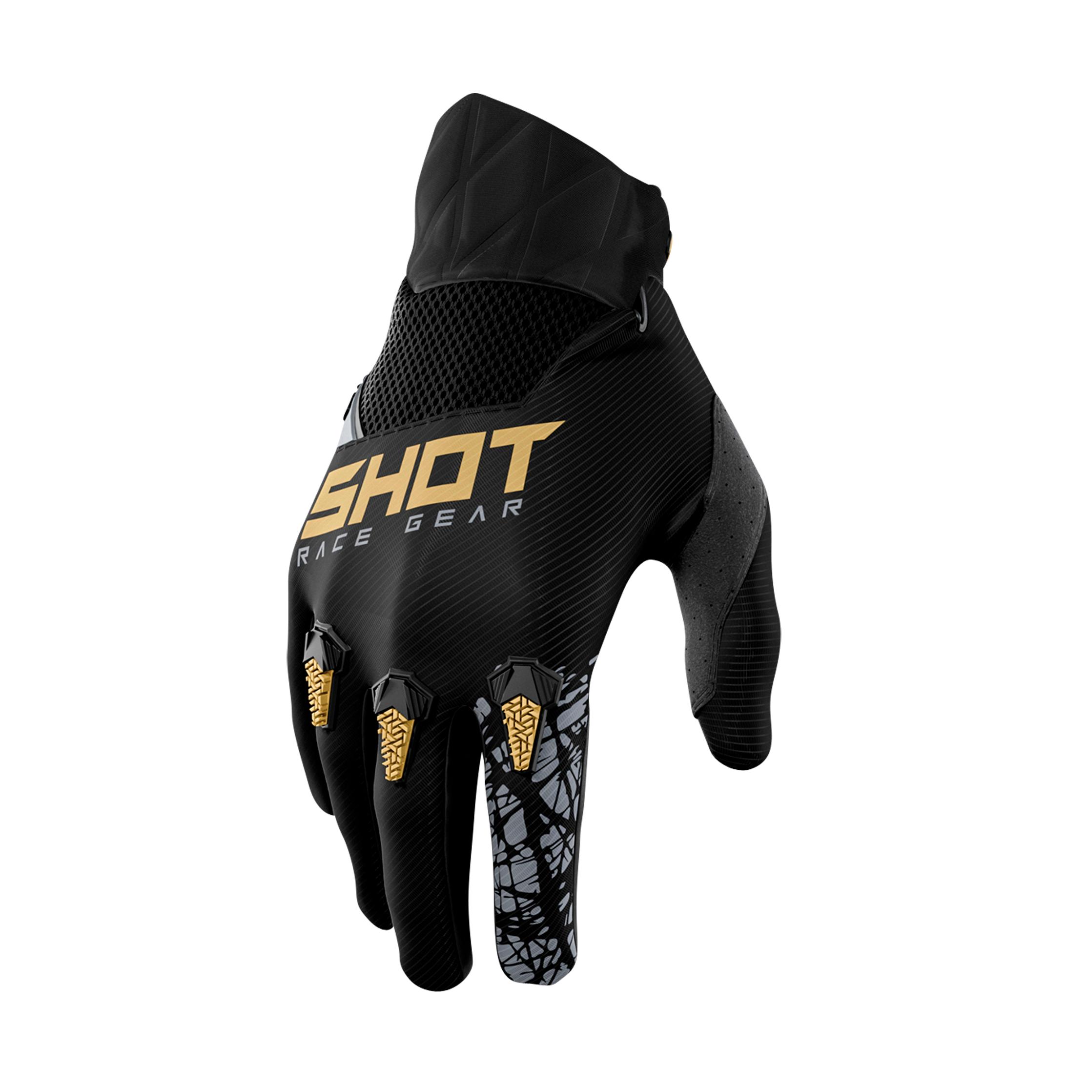 Shot Race Gear Guanti Cross Bambino Shot Storm Oro