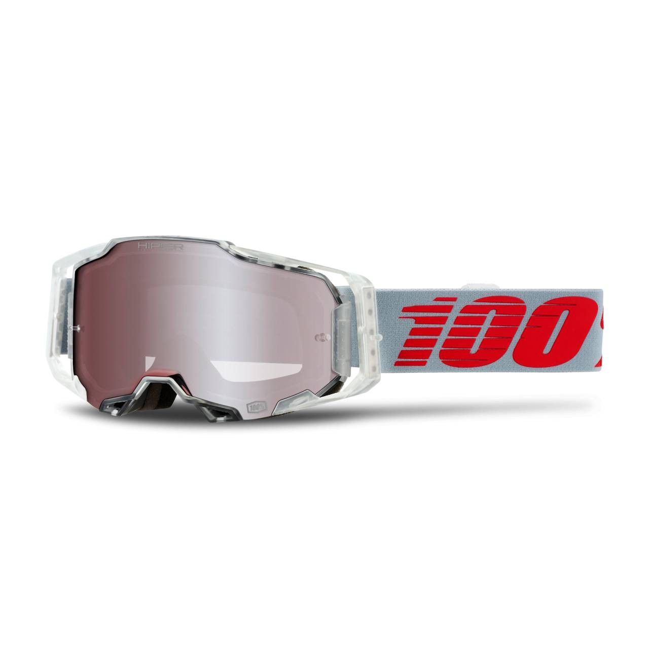 100% Maschera Cross  Armega X-Ray Bianco-Rosso