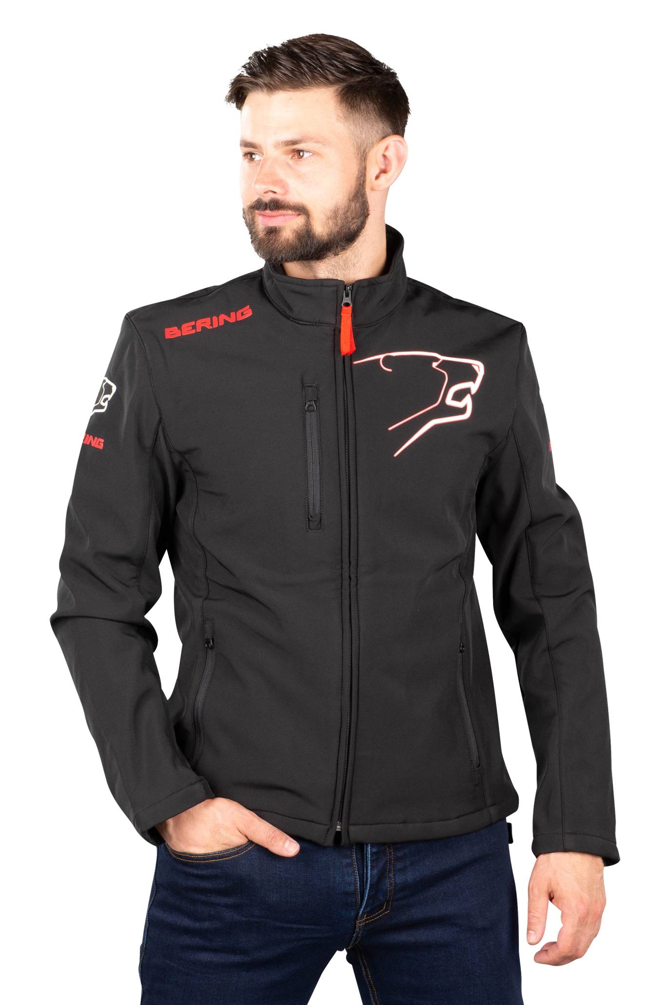 Bering Giacca  Softshell 2016 Nero-Rosso