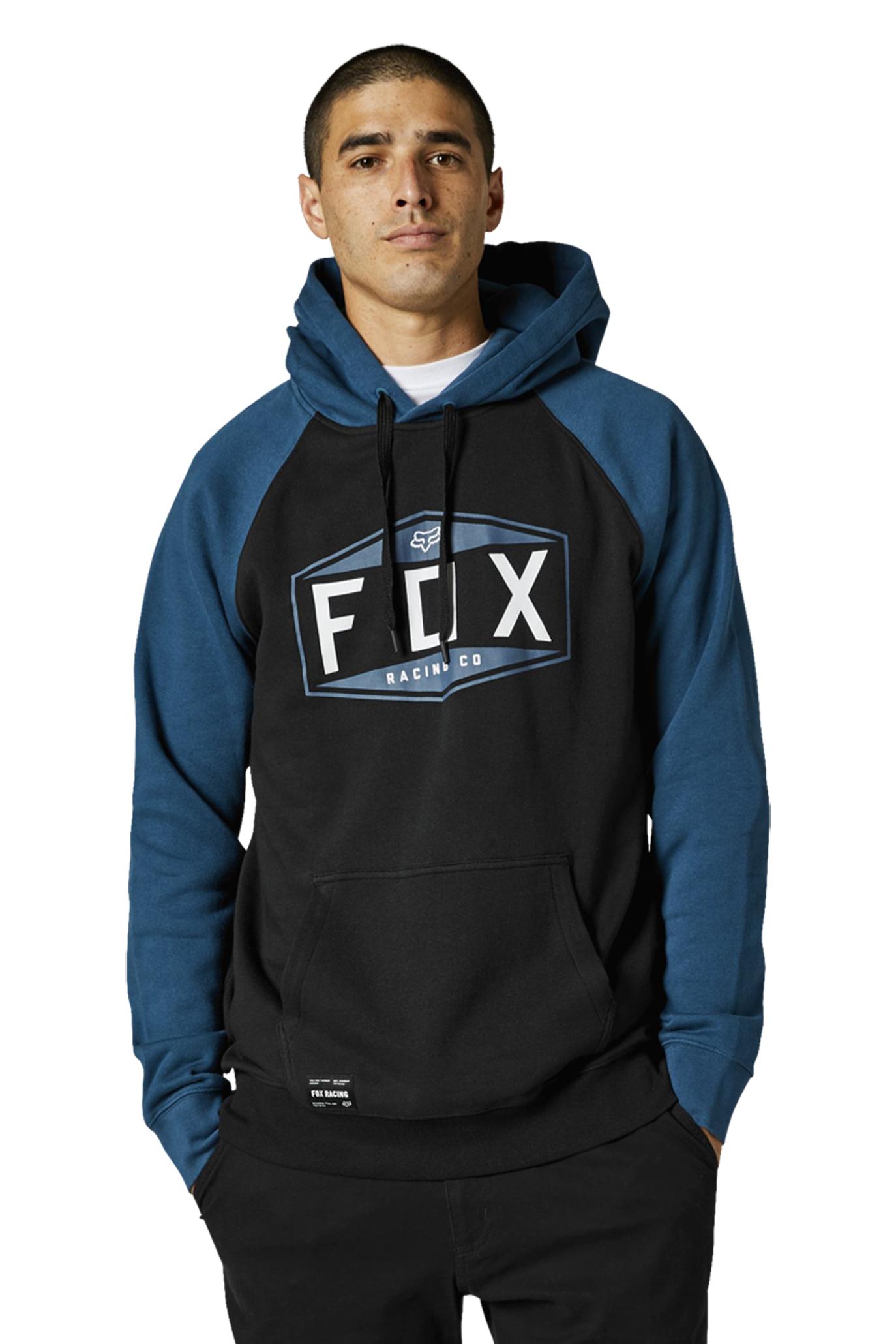 FOX Felpa  Racing Emblem Pullover Raglan Dark Indo