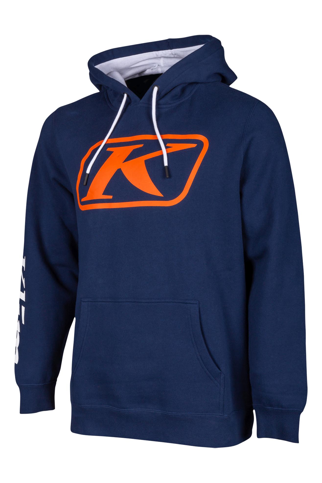 KLIM Felpa  K Corp Blu-Arancio