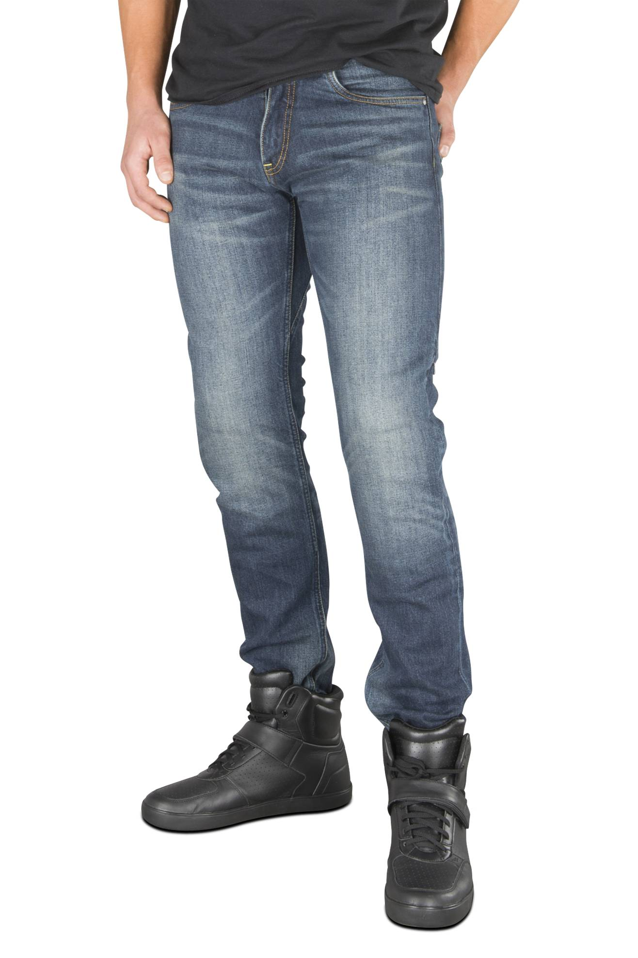 Spidi Jeans  J-Tracker Blu Scuro Slavati L30