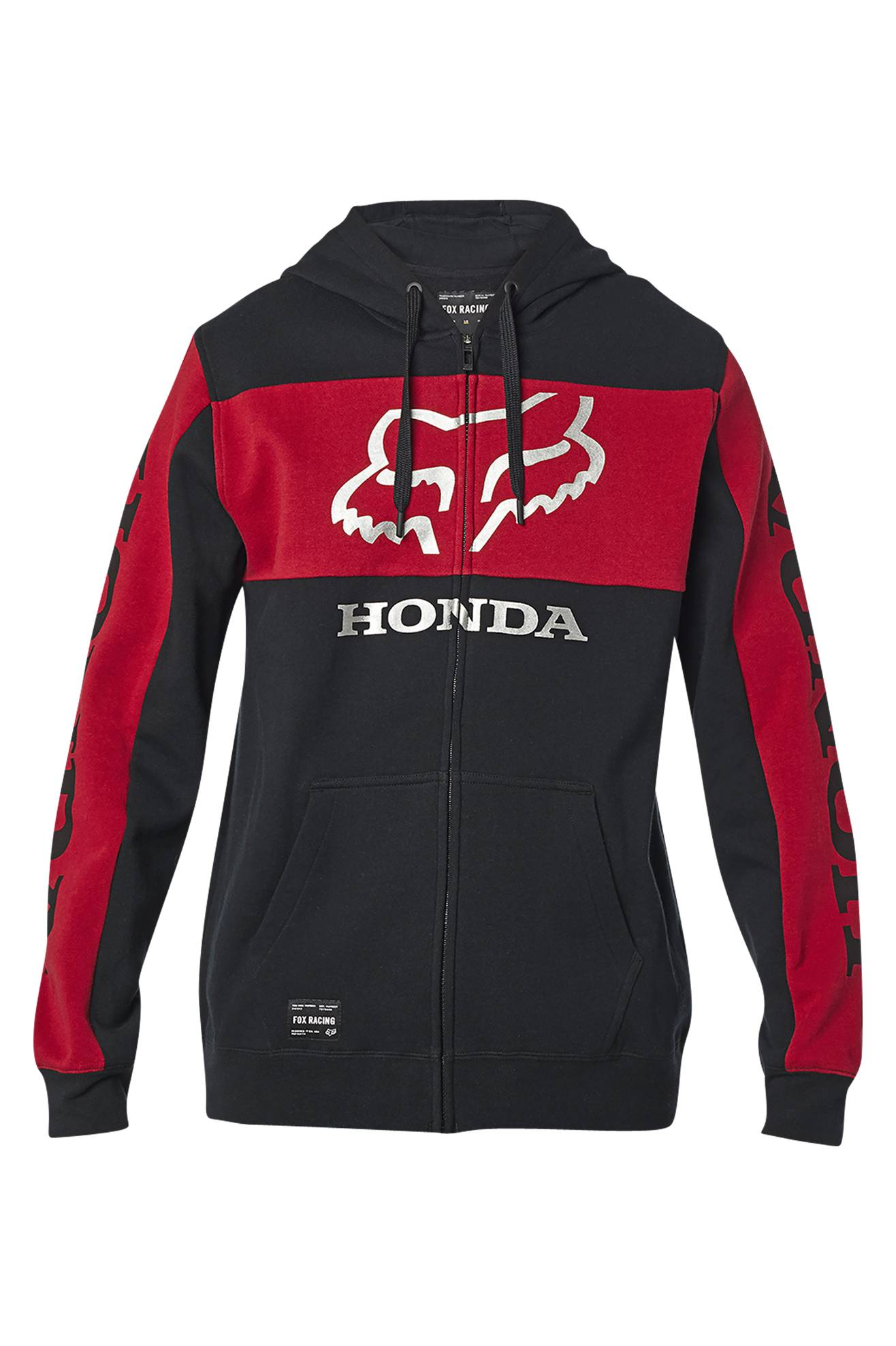 FOX Felpa  Racing Honda Zip Nero-Rosso