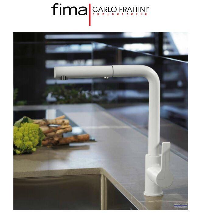 Fima Carlo Frattini – Miscelatore Monoforo Lavello Con Doccia Estraibile F7029notbs Bianco Opaco