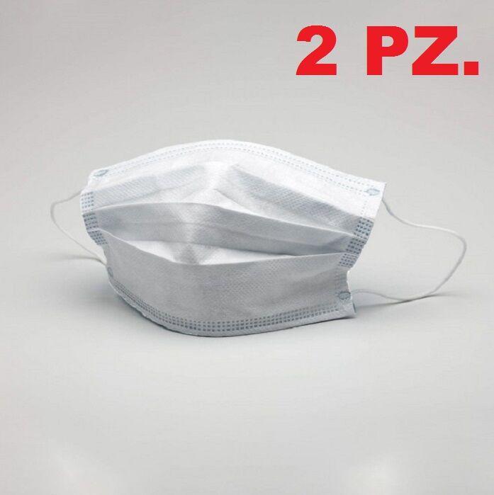 mascherina monouso in tnt 70gr 2 strati pz 2