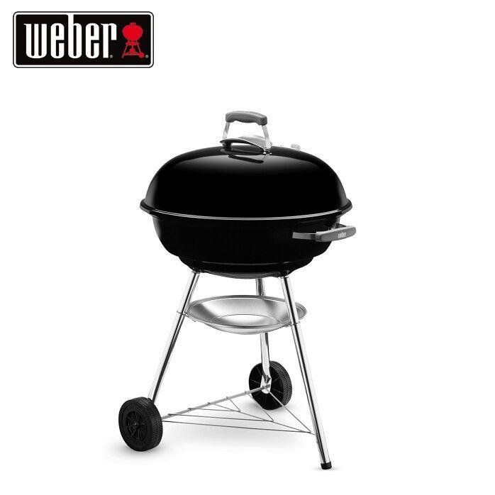 weber barbecue a carbone da esterno compact kettle 57 cm