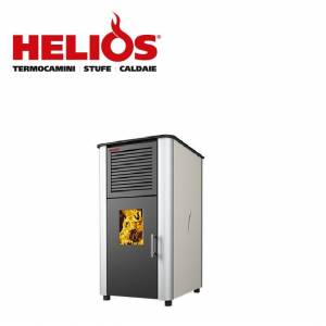 Helios Tecnologie Biostufa Policombustibile Helios Tecnologie Mod. Ufita 30 Potenza 30 Kw Vari Colori Disponibili