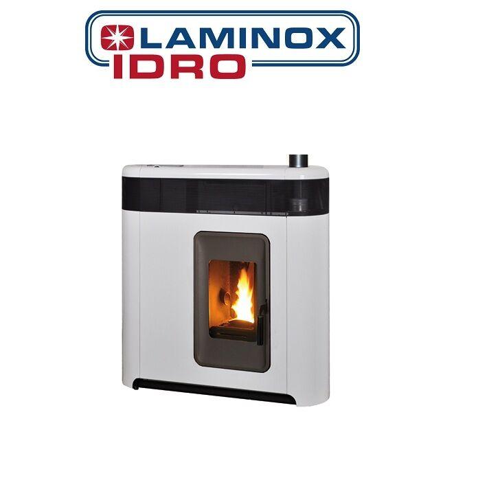 Laminox Termostufa A Pellet Laminox Mod. Elisa Phantom Idro 16 Kw Slim - Bianco