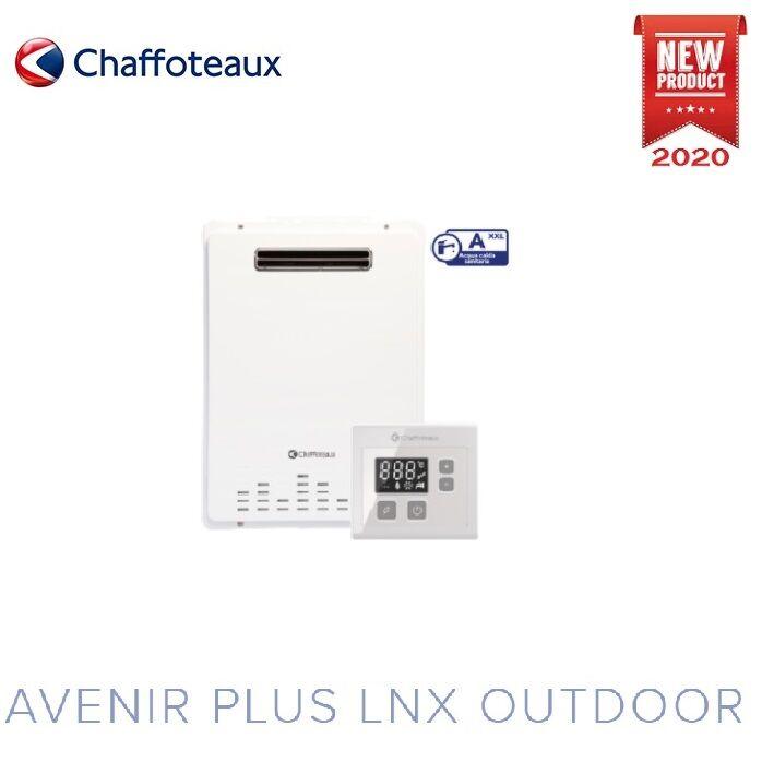 Scaldabagno Scaldacqua A Gas Chaffoteaux Avenir Plus Lnx Outdoor 22 Litri Low Nox - Gpl - Flusso Forzato Da Esterno - New 2020