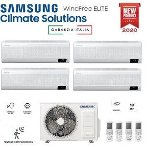 Samsung Climatizzatore Condizionatore Samsung Inverter Quadri Split Windfree Elite 9000+9000+12000+12000 Con Aj080txj R-32 Classe A++ Wifi - New 2020 9+9+12+12