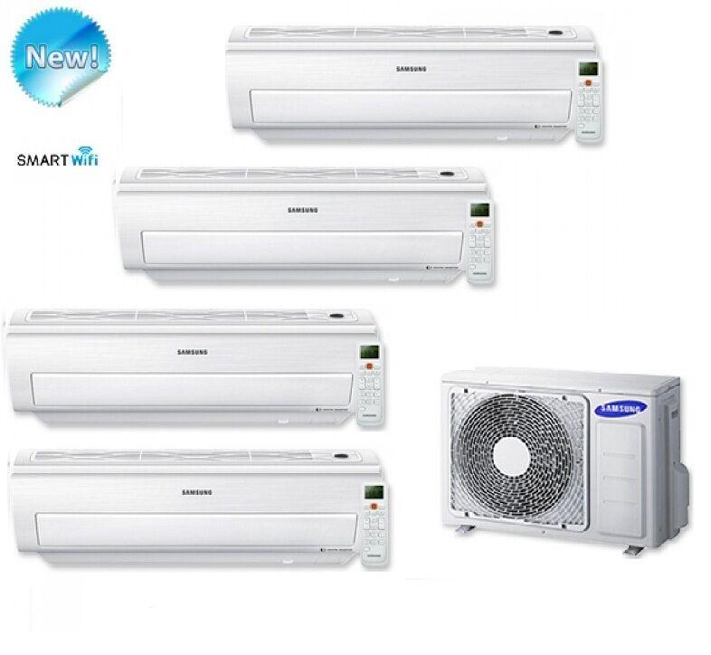 Samsung Climatizzatore Condizionatore Samsung Quadri Split Inverter Serie Ar5500m Smart Wifi 9000+9000+9000+9000 Con Aj080fcj - New 2017 9+9+9+9