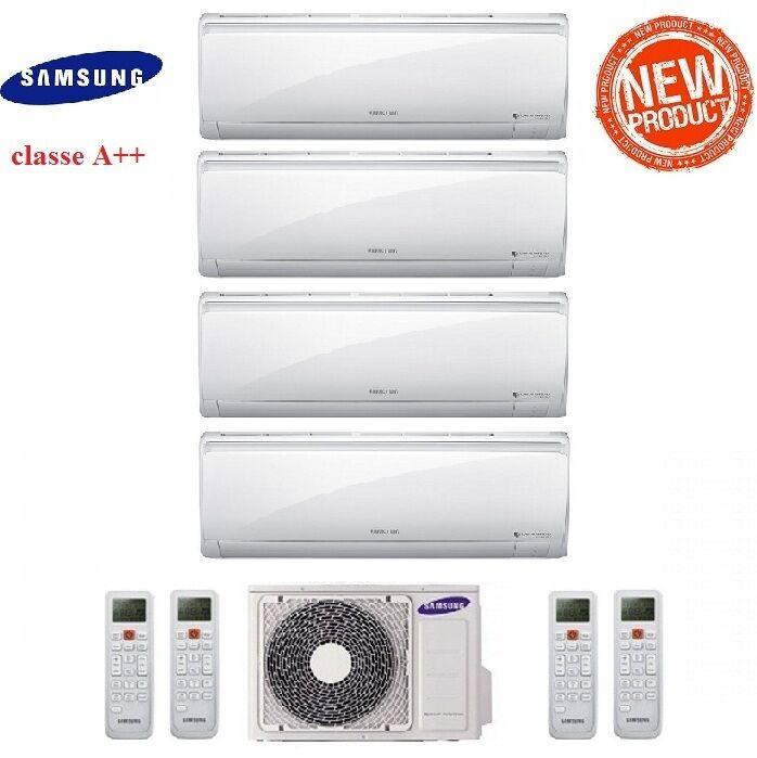 Samsung Climatizzatore Condizionatore Samsung Inverter Quadri Split Maldives Quantum 9+9+9+12 Con Aj070mcj - New 2017 9000+9000+9000+12000