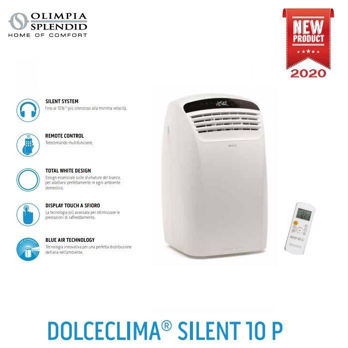 olimpia splendid climatizzatore condizionatore olimpia splendid portatile mod. dolceclima silent 10 p 10000 btu - cod. 01920 bianco