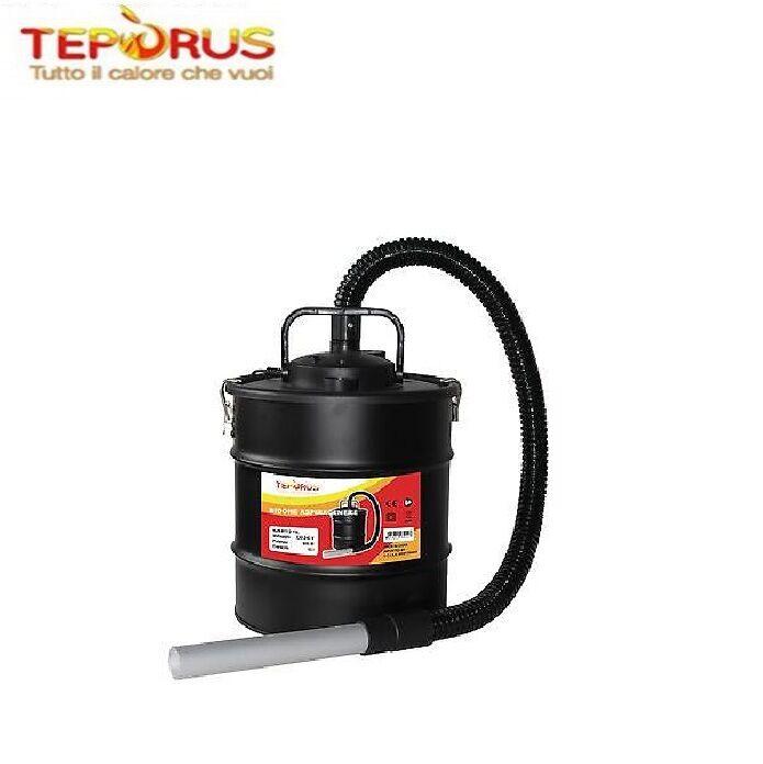 Teporus Bidone Aspiracenere Aspirapolvere Teporus Mod. Fuocovivo 15 Lt 800 W