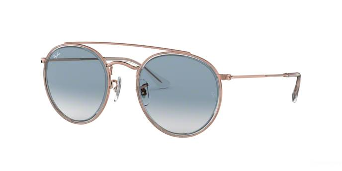 Ray-Ban Occhiale da Sole Ray Ban Round Double Bridge RB 3647N (90683F)