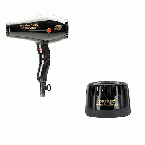 Parlux Phon 385 Power Light Ionic & Ceramic Nero +  Silenziatore