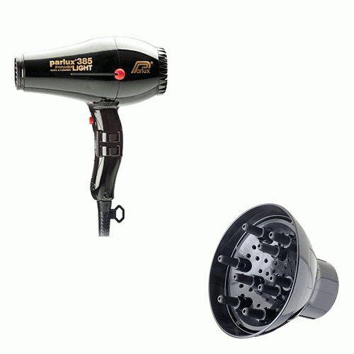 Parlux Phon 385 Power Light Ionic  Ceramic Nero +   Diffusore Per 385