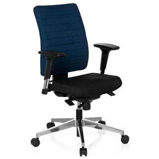 hjh sedia ergonomica profi, completamente regolabile, omologata 8h, base in acciaio, in blu