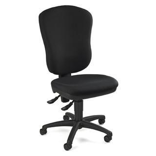 hjh sedia ergonomica salma 20, ampio schienale anatomico, per 8 ore uso, in tessuto nero