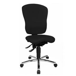 hjh sedia ergonomica salma 30, schienale regolabile, base in metallo, 8 ore uso, in tessuto nero