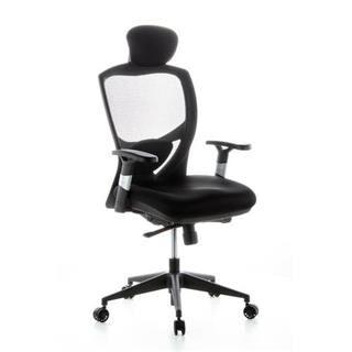 hjh sedia ergonomica venus tessuto, 100% regolabile, in tessuto nero