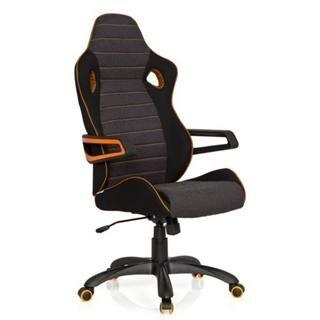 Hjh Sedia Gaming per PC modello DAKAR, speciale stile sportivo, omologata per 8 ore al dì, in nero/arancione