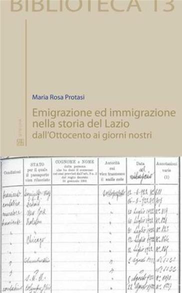 Maria Rosa Protasi Emigrazione ed immigrazione