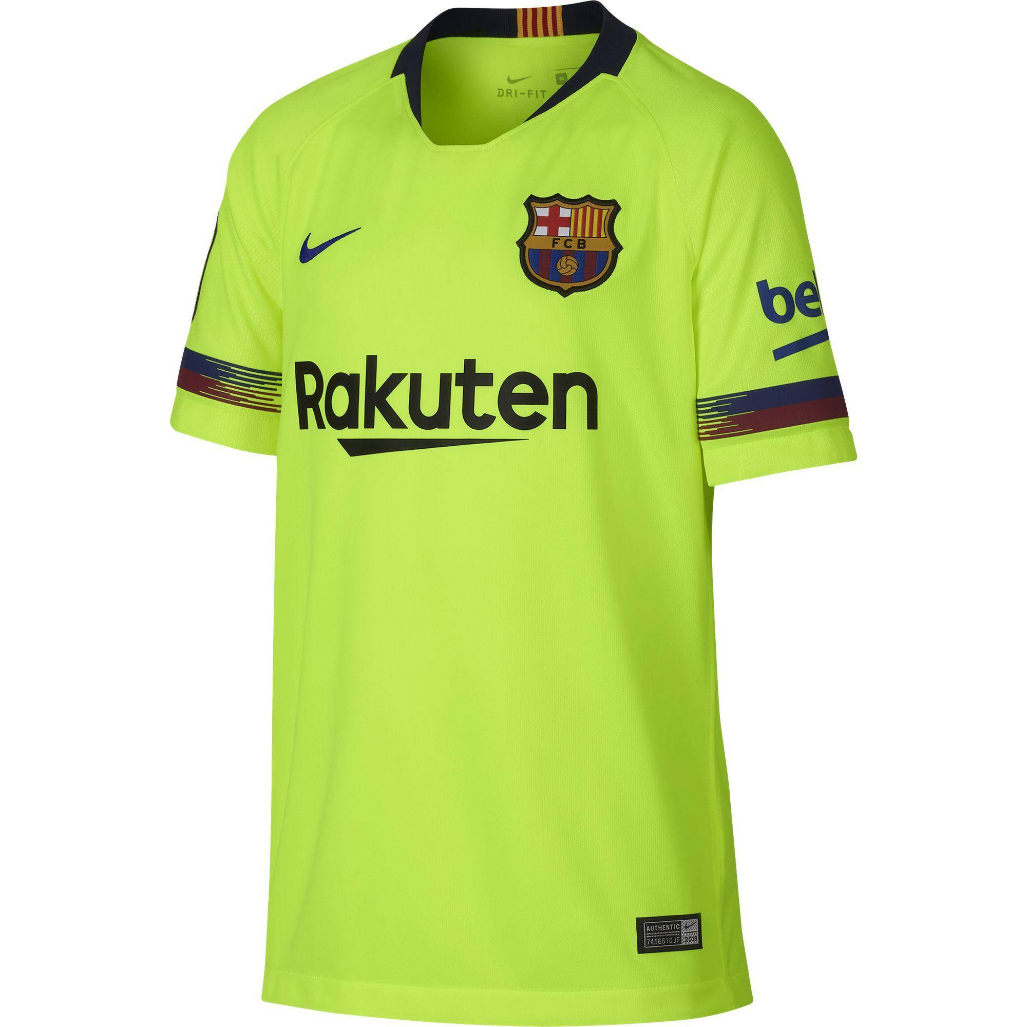 Nike Maglia Gara Away Barcellona Junior  18/19