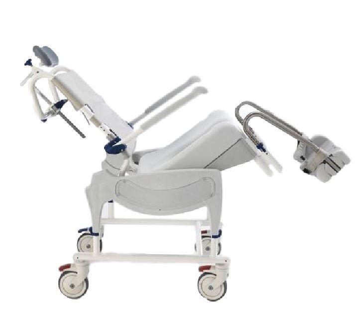invacare sedia ergonomica per wc e doccia con schienale reclinabile e basculante - aquatec ocean ergo dual vip