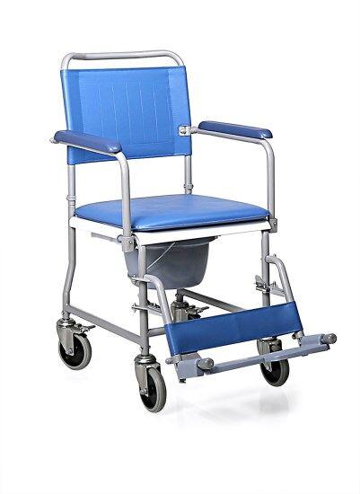 mopedia sedia comoda in acciaio verniciato - schienale smontabile - 4 ruote piroettanti
