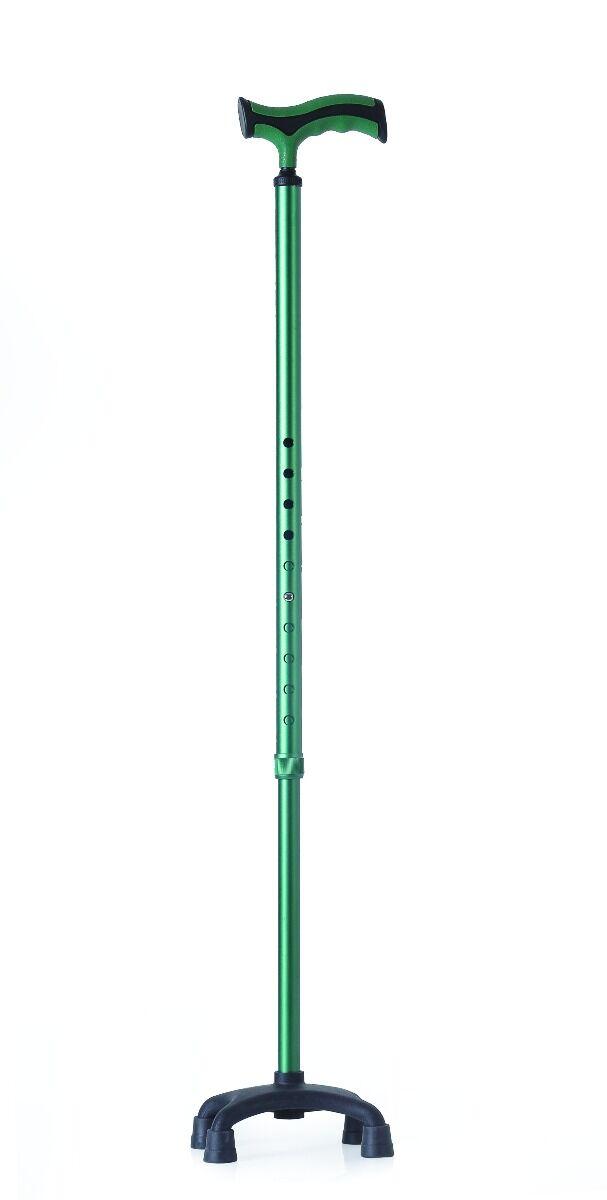 mopedia bastone da passeggio in alluminio puntale quadripode