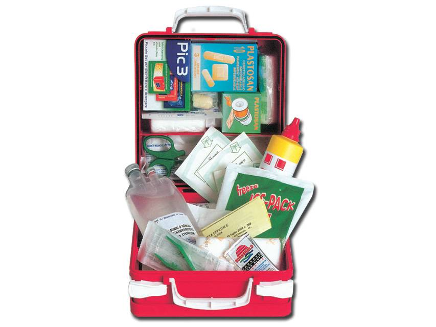 gima kit pronto soccorso - valigetta plastica