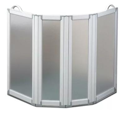 allmobility paratia mobile per vasca da bagno - 4 pannelli - altezza 75 cm