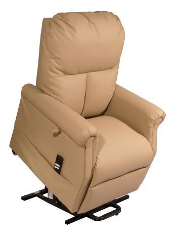 termigea poltrona relax per anziani e disabili elevabile e reclinabile con alzata assistita 1 motore in ecopelle beige