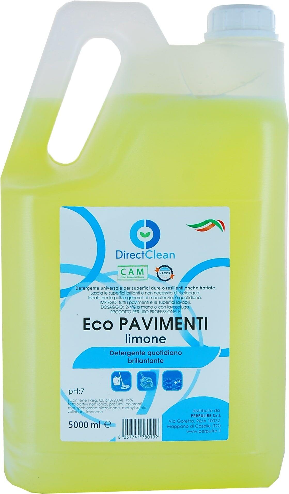 Direct Clean Detergente A Schiuma Controllata Eco Pavimenti Limone 5000 ml