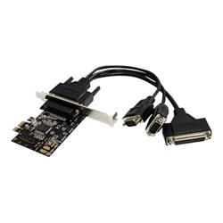 startech adattatore di rete .com scheda seriale/parallela pci express 2s1p con cavo di ripartizione