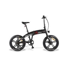 Smartway Bicicletta Monster Bike Pieghevole Ruote 20'' Pieghevole Nero