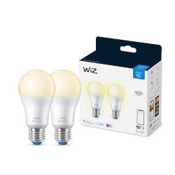 WIZ Lampadina LED 806 Lumen - Dimmerabile - Luce calda 2700°K - 2 pezzi- E27