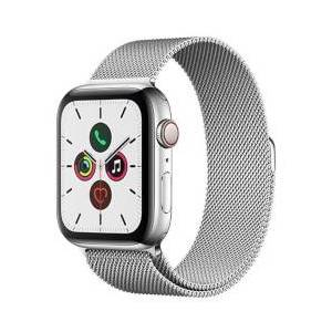 Apple Smartwatch Watch Series 5 GPS+Cellular 44mm Acciaio con loop maglia milanese