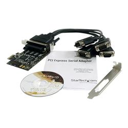 startech scheda pci .com scheda pci express seriale a 4 porte rs-232 con cavo di ripartizio