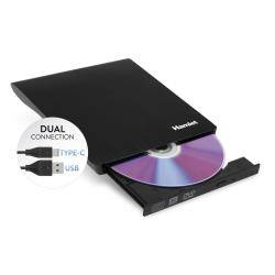 hamlet masterizzatore unità dvd±rw (+r dl) / dvd-ram - usb - esterno xdvdslimkc