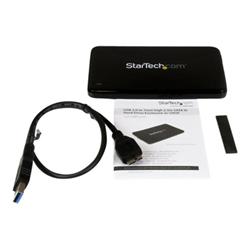 startech box hard disk esterno .com enclosure esterno per disco rigido sata 2.5'' slim usb 3.0 ssd/hdd