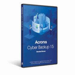 acronis software cyber backup standard server (v. 15) b1wzbpits
