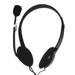nilox cuffie con microfono on ear con cavo usb nero