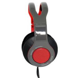 gioteck cuffie gaming tx30 gaming headset usb over-ear per nintendo switch grigio e rosso